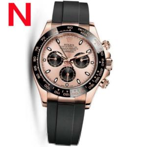 N厂 V7S 劳力士迪通拿橡胶表带手表-116515LN 玫瑰金粉色盘正品开模 1比1 rolex Daytona 黑色陶瓷圈,超A 瑞士4130机械机心